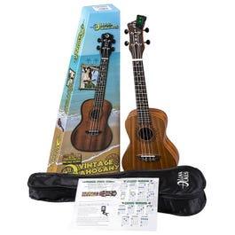 Luna Guitars Uke Vintage Mahogany Concert Ukulele Pack