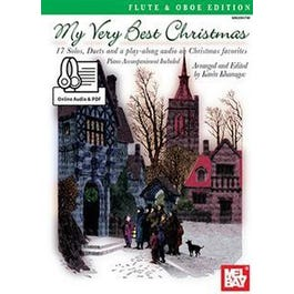 Mel Bay My Very Best Christmas, Flute and Oboe Edt. (Book + Online Audio/PDF Supplement)