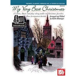 Mel Bay My Very Best Christmas, Trumpet, Clarinet, Soprano Sax (Book + Online Audio/PDF Supplement)