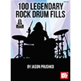 Mel Bay 100 Legendary Rock Drum Fills (Book + Online Audio)