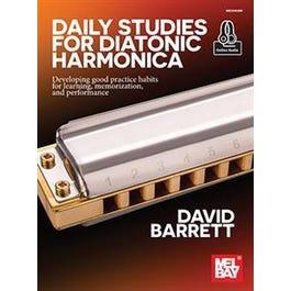 Mel Bay Daily Studies for Diatonic Harmonica (Book + Online Audio)