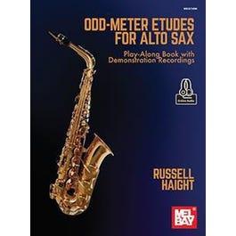 Mel Bay Odd-Meter Etudes for Alto Sax (Book + Online Audio)