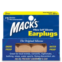 Mack's Pillow Soft Moldable Silicone Ear Plugs, 2 Pair