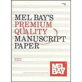 Mel Bay Premium Quality Manuscript Paper Twelve-Stave Quire (24) (Book)