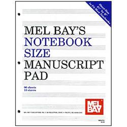 Image for Notebook-Size Manuscript Pad 10-Stave from SamAsh