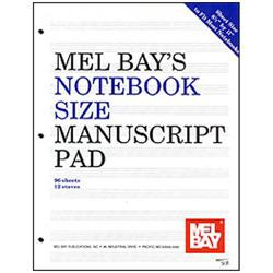 Image for Notebook-Size Manuscript Pad 12-Stave from SamAsh