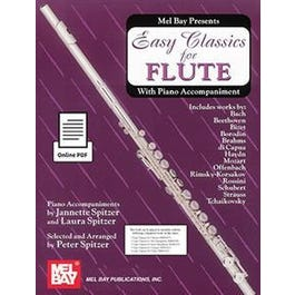 Mel Bay Easy Classics for Flute - with Piano Accompaniment (Book + Online PDF Supplement)