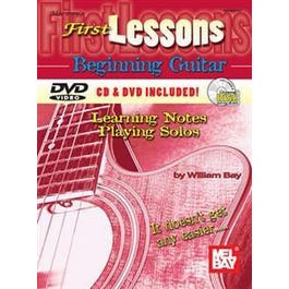 Mel Bay First Lessons Beginning Guitar: Learning Notes/Playing Solos (Book/CD/DVD Set)