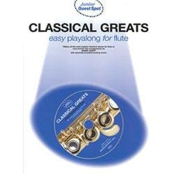 Image for Junior Guest Spot Classical Greats for Flute (Book and CD) from SamAsh