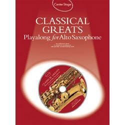 Image for Center Stage Classical Greats Playalong for Alto Sax (Book and CD) from SamAsh