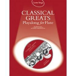 Image for Center Stage Classical Greats Playalong for Flute (Book and CD) from SamAsh