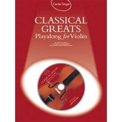 Image for Center Stage Classical Greats Playalong for Violin (Book and CD) from SamAsh