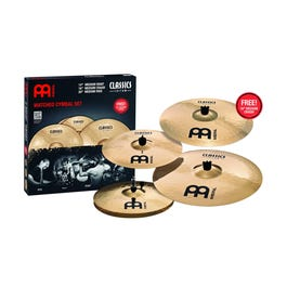 """Meinl Cymbals Classics Custom Series 3-Piece Cymbal Pack with Free 18"""" Crash"""