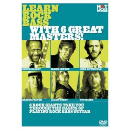 Image for Learn Rock Bass With 6 Great Masters (DVD) from SamAsh