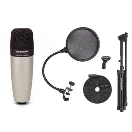 Image for Complete Boom Mic Package with Cable and Microphone Clip from SamAsh
