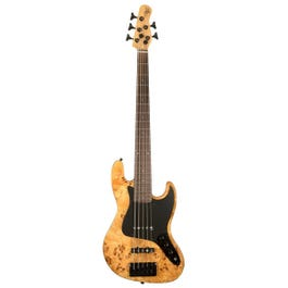 Image for Custom Collection Element 5 Burl 5-String Electric Bass Guitar from SamAsh