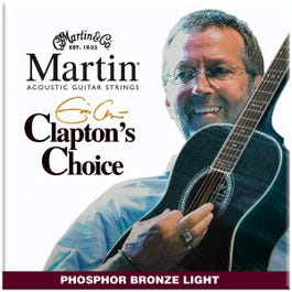 Image for Clapton's Choice Phosphor Bronze Light Acoustic Guitar Strings (12-54) from SamAsh
