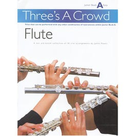 Image for Three's A Crowd Flute Junior Book A from SamAsh