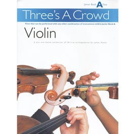 Image for Three's A Crowd Violin Junior Book A from SamAsh