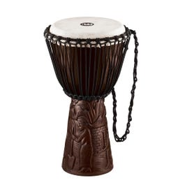 """Meinl Percussion PROADJ2-M Professional African Style 10"""" Djembe, Village Carving"""