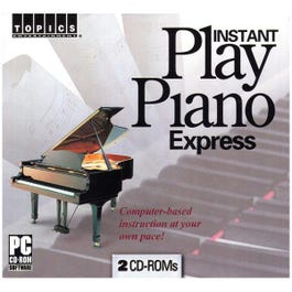 Image for Instant Play Piano Express Instructional Software (Windows Only) from SamAsh