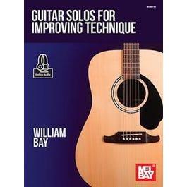 Mel Bay Guitar Solos for Improving Technique (Book + Online Audio)