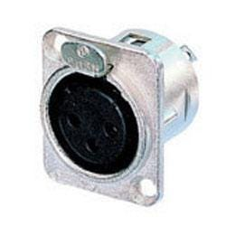"""Image for NC3FDL 3 Pin Female XLR Connector (Chassis """"D"""" Mount) (Assorted Types) from SamAsh"""