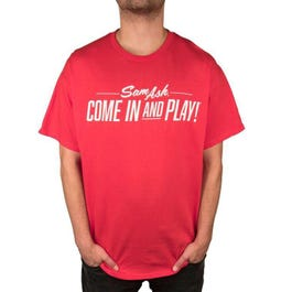Image for Men's Come in and Play Red T-Shirt from SamAsh