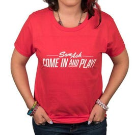 Image for Women's Come in and Play Red T-Shirt from SamAsh