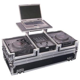 Image for FZGS10CDJW Flight Zone DJ Case (with Gliding Laptop Stand and Wheels) from SamAsh
