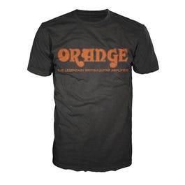 Image for Retro T-Shirt, Black with Orange Logo from SamAsh