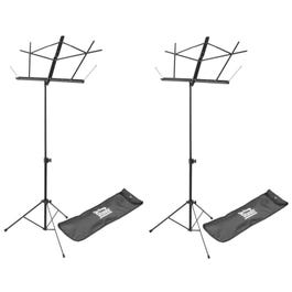 Image for Compact Sheet Music Stand with Bag (2-Pack) from SamAsh