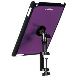 On-Stage TCM9163P iPad Snap-On Cover with Table Clamp, Purple