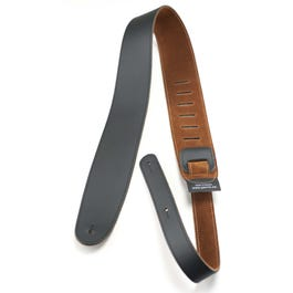 """Perri's 2 ½"""" Leather Guitar Strap with Natural Suede Backing"""