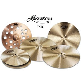 """Image for Masters Thin Cymbal Set Extended with Free 18"""" PSTX Swiss Thin Crash from SamAsh"""
