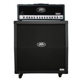 "Image for 6505+ Half Stack 6505+ 120 Watt Guitar Amplifier Head with 6505 412 4x12"" Slant Guitar Speaker Cabinet from SamAsh"