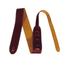 "Perri's BM2-6555 2"" Italian Leather Guitar Strap, Wine"