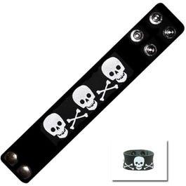 Image for Skull Leather Bracelet from SamAsh