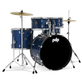 Image for Center Stage 5-Piece Drum Kit with Hardware and Cymbals (Royal Blue Sparkle) from SamAsh