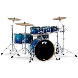 Image for Concept Maple 7-Piece Drum Shell Pack - Gloss Blue Fade from SamAsh