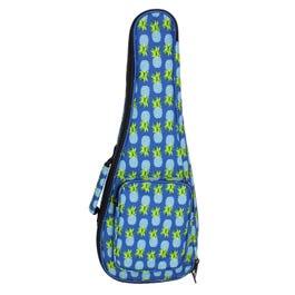 """Perri's 23"""" Padded Concert Ukulele Bag, Blue Pineapples"""