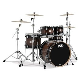 PDP Concept Maple Exotic 5-Piece Shell Pack - Walnut to Charcoal Burst