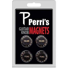 Perri's 4 Guitar Knob Fridge Magnets, Black