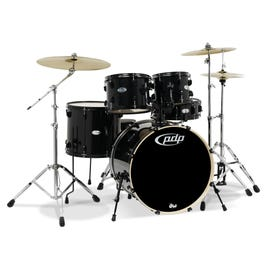 Image for Mainstage 5-Piece Drum Set with Hardware & Cymbals - Black Metallic from SamAsh