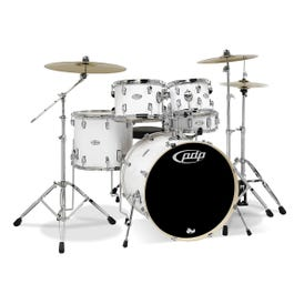 Image for Mainstage 5-Piece Drum Set with Hardware & Cymbals - Gloss White from SamAsh