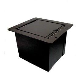 Proco Mini Pocket Floor Box, 3 XLR Female, 1 Ethercon Data Connector