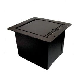 Proco Mini Pocket Floor Box, 6 XLR Female, 2 Ethercon Data Connector
