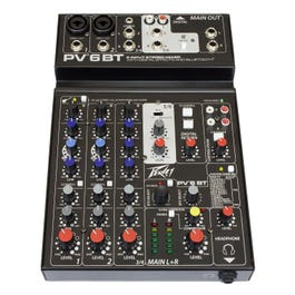 Peavey PV 6 BT 6-Channel Bluetooth Stereo Mixer