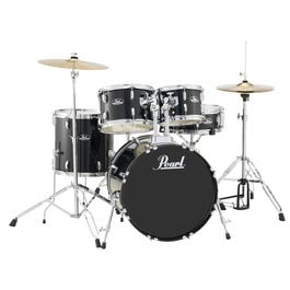 Image for Roadshow RS505C 5-Piece Drum Set w/ Hardware & Cymbals (Jet Black) from SamAsh