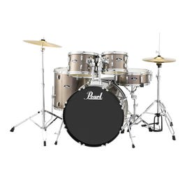 Image for Roadshow RS525SC 5-Piece Drum Set w/ Hardware & Cymbals (Bronze Metallic) from SamAsh